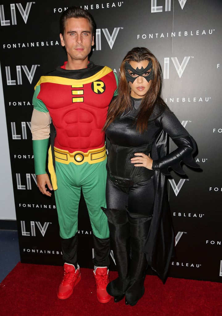 Scott Disick and Kourtney Kardashian as Robin and Batgirl