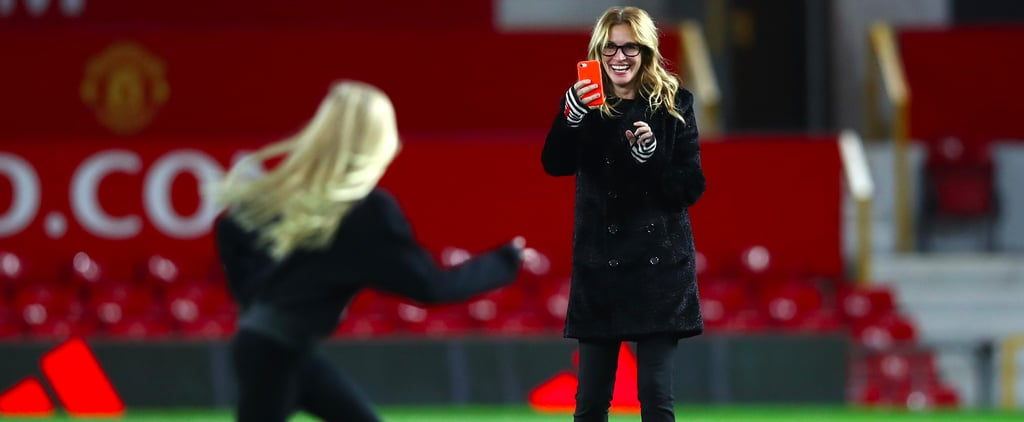 Julia Roberts Is the Ultimate Soccer Mom While Watching Her Kids Play in England