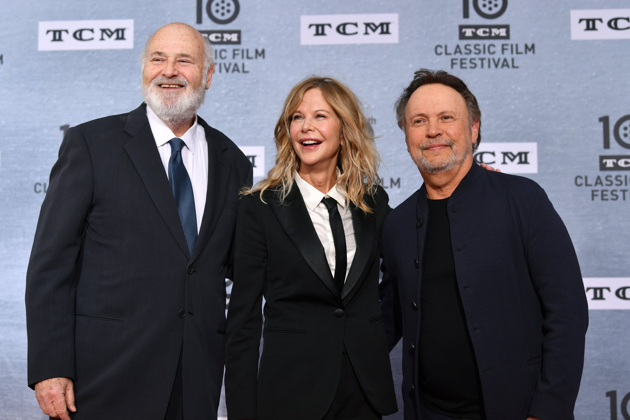 HOLLYWOOD, CA - APRIL 11:  (L-R) Special Guests Rob Reiner, Meg Ryan, and Billy Crystal attend The 30th Anniversary Screening of