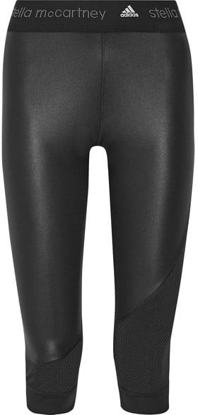 new style d4e5f f8c7a Adidas by Stella McCartney Climacool Mesh-Trimmed Leggings ...