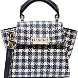 Zac Posen Eartha Gingham Staw Mini Top Handle Bag