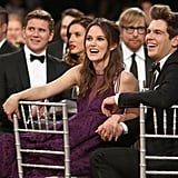 Keira Knightley held onto her husband James Righton's hand while watching the show.