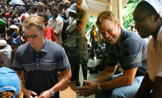 Photos of Matt Damon in South Africa For Not on Our Watch