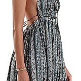 Charlotte Russe En Crème Strappy Printed Halter Dress