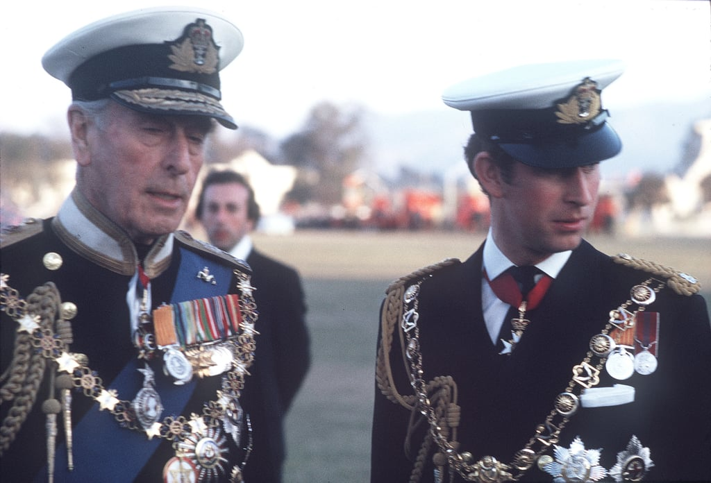 Prince Charles and Lord Mountbatten in Nepal in 1975