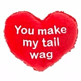 "Grreat Choice Valentine's ""You Make My Tail Wag"" Heart Dog Toy ($3)"