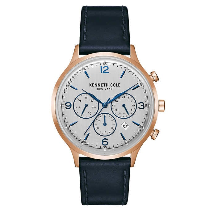 Kenneth Cole New York Leather Strap Men's Watch