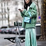 Make monochromatic dressing pop.