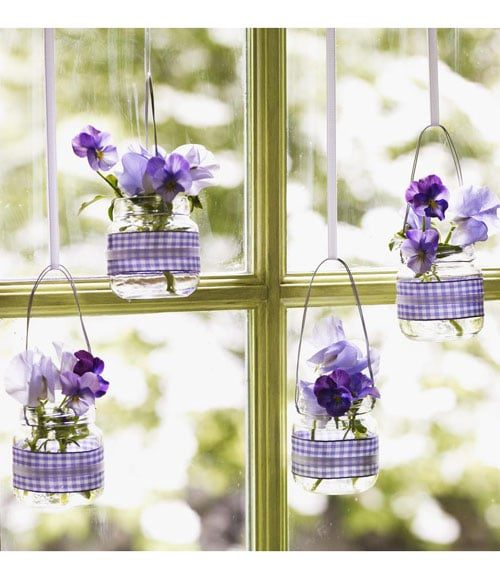 Hanging Baby-Food-Jar Vases