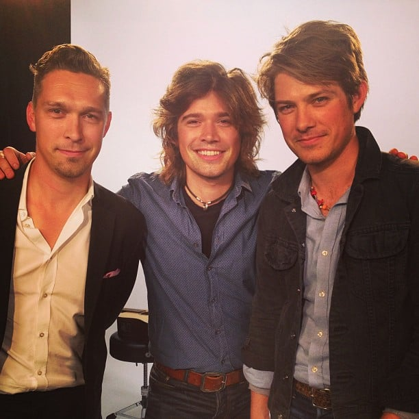 The boys of Hanson posed for the camera before heading to the O Music Awards. Source: Instagram user mtv