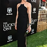 Taylor Schilling wore a long black gown The Lucky One premiere in LA.