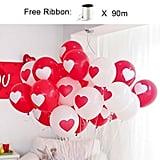 Printed Heart Balloons