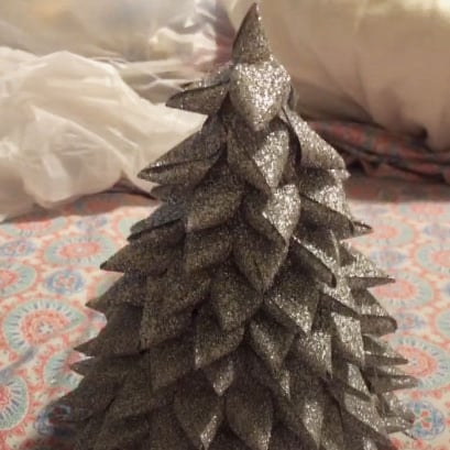 Mini Christmas Tree DIY Using a Party Hat