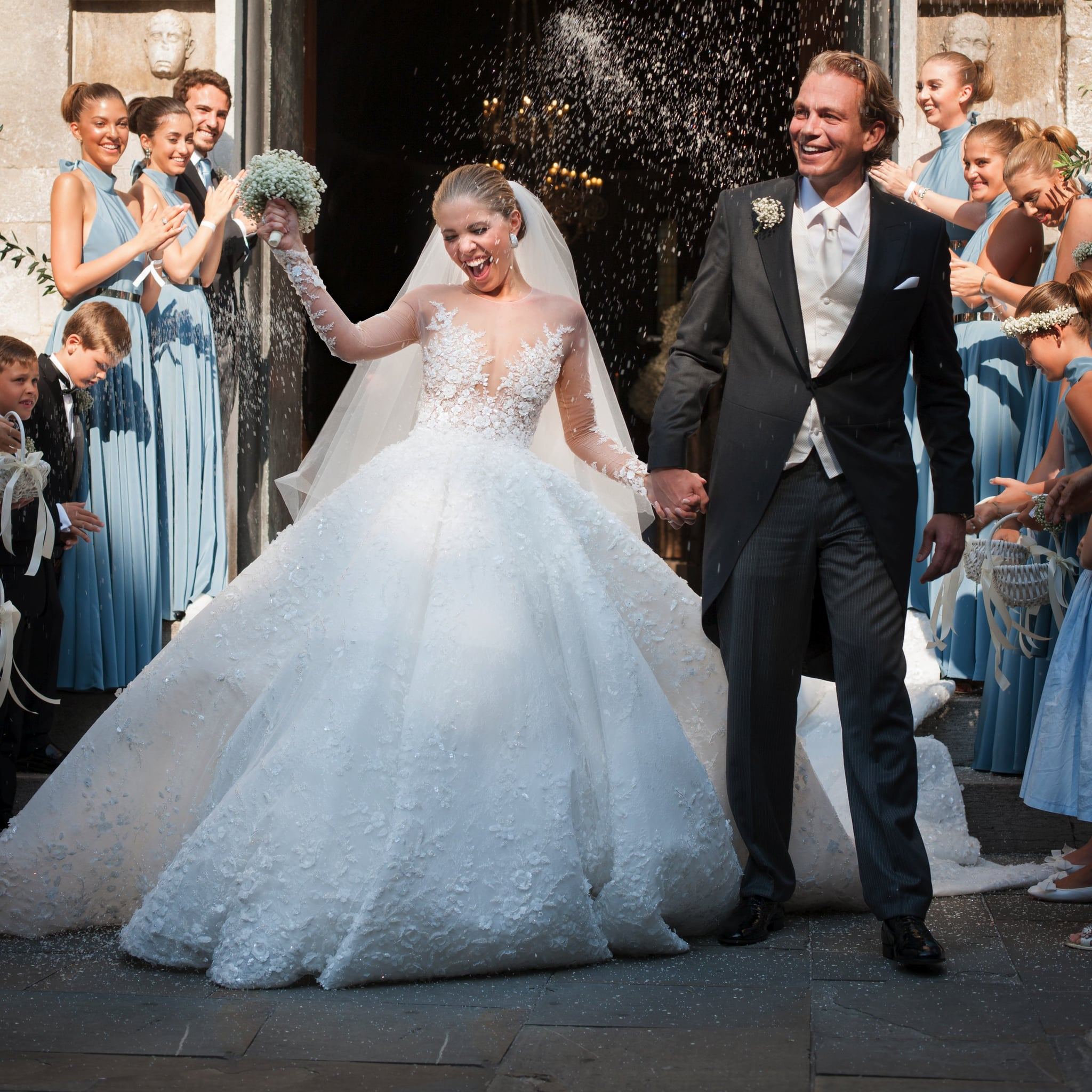 Victoria Swarovski\'s Michael Cinco Wedding Dress | POPSUGAR Fashion