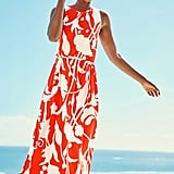 Boden Delphine Tie-Waist Sleeveless Maxi Dress