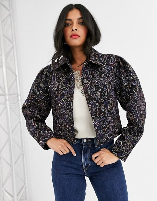 & Other Stories Jacquard Cropped Jacket