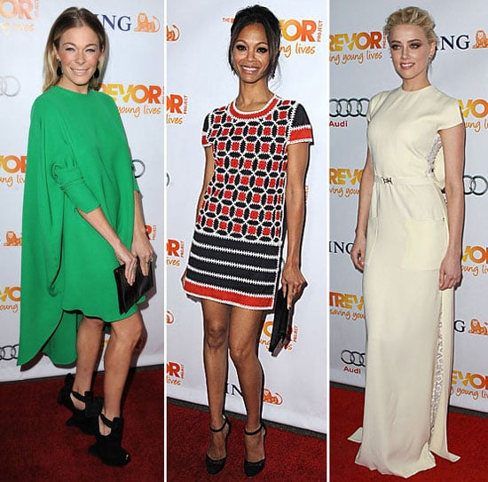 Pictures of Celebrity Party Season Style: Zoe Saldana, Anne Hathaway, LeAnne Rimes, Amber Heard, Zoe Saldana & more Get Glam!