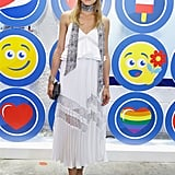Olivia Wearing a Paisley Print Skinny Scarf at a Pepsi Exhibit
