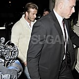 David Beckham was out and about in London.