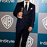 Matt LeBlanc held up his Golden Globe.