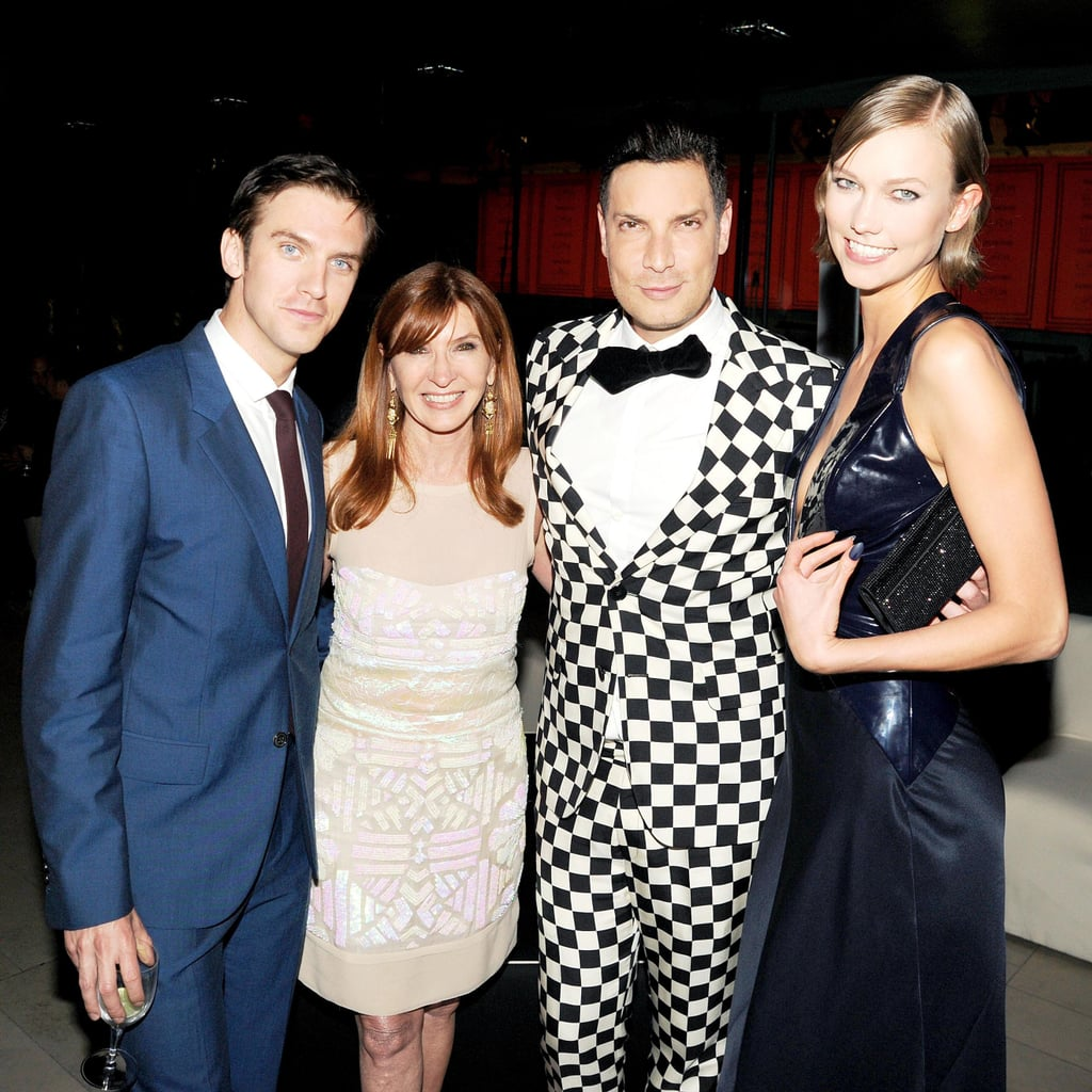 Dan Stevens met up with Karlie Kloss and two designers. Source: Billy Farrell/BFANYC.com