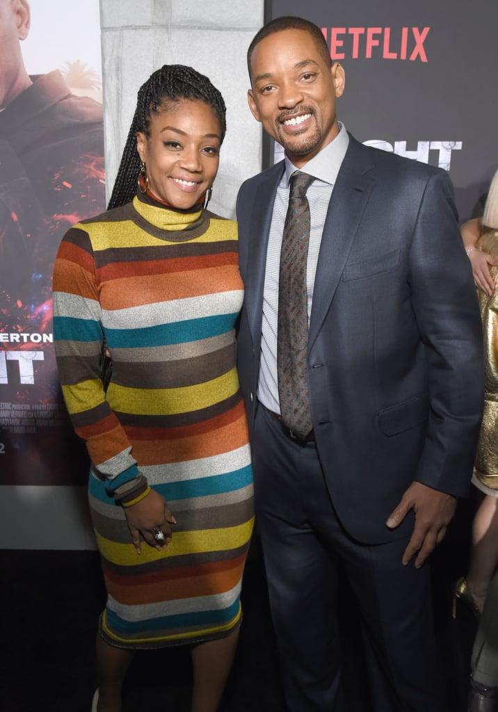 Will and Jaden Smith at Bright Premiere in LA 2017