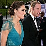 Prince William and Kate Middleton dressed up for the Olympic concert.