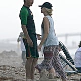 Gwen Stefani and Gavin Rossdale Kiss During a Beach Day With Zuma
