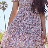 UO Josephine Gauze Babydoll Mini Dress