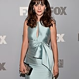 Zooey Deschanel was on hand for the Fox Emmys after party.