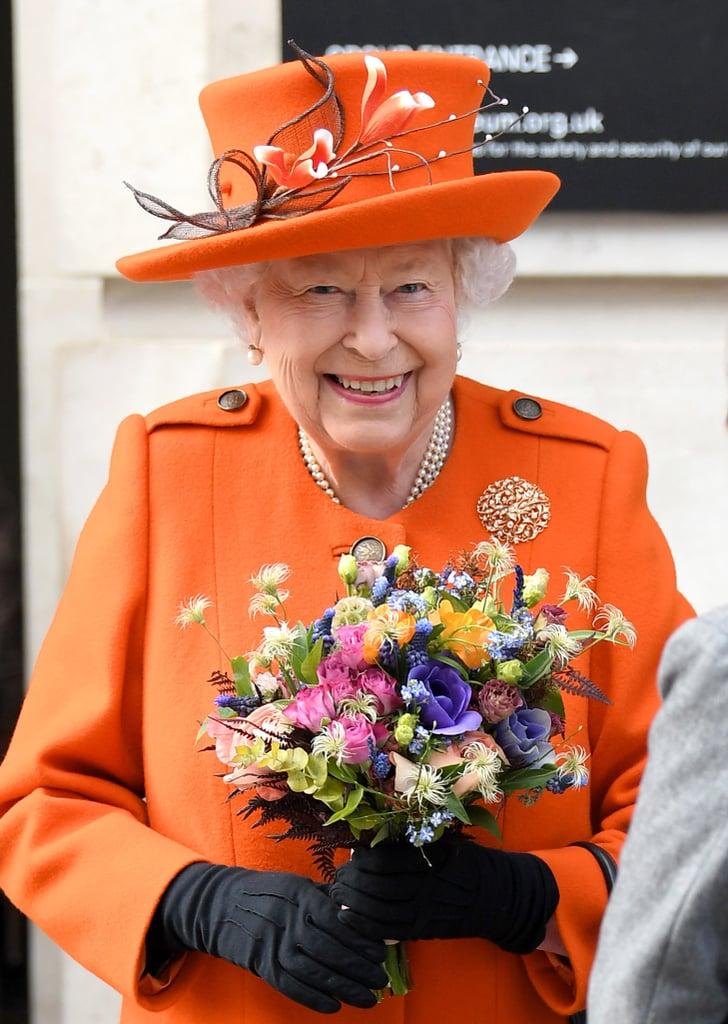 Queen Elizabeth II's Orange Outfit March 2019 | POPSUGAR ...