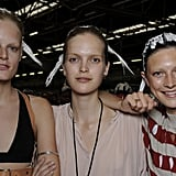 Hanne Gaby Odiele, *** and Jacquelyn Jablonski at Alexander Wang