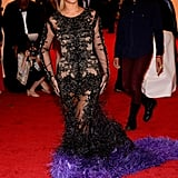 Beyoncé Knowles arrived at the Met Gala wearing Givenchy.