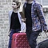 Emma and Evan strolled from the airport.