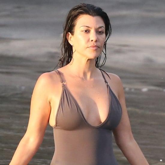 Kourtney Kardashian Brown Swimsuit in Costa Rica June 2019