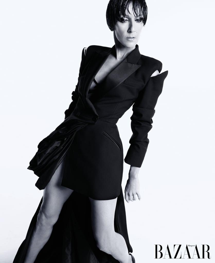 Celine Dion Pixie Hairstyle for Harper's Bazaar