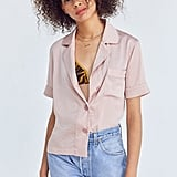 Cooperative Shiny Short Sleeve Pajama Top