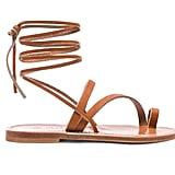 K Jacques Ellada Ankle Wrap Sandal