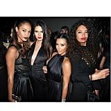 Joan Smalls, Kendall Jenner, Kim Kardashian, and Afef Jnifen