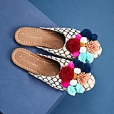 Anthropologie Pommed Slide Slippers