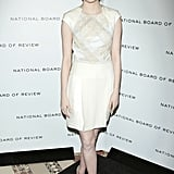 Emma Stone was in white for the National Board of Review Awards gala.