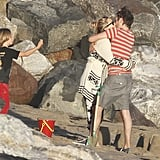 Kate Hudson and Matthew Bellamy Show Love on the Beach With Ryder