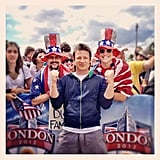 Jamie Oliver met up with some fellow Team GB supporters. Source: Instagram user jamieoliver