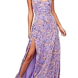 ASTR the Label Pandora High-Slit Floral Print Maxi Sundress