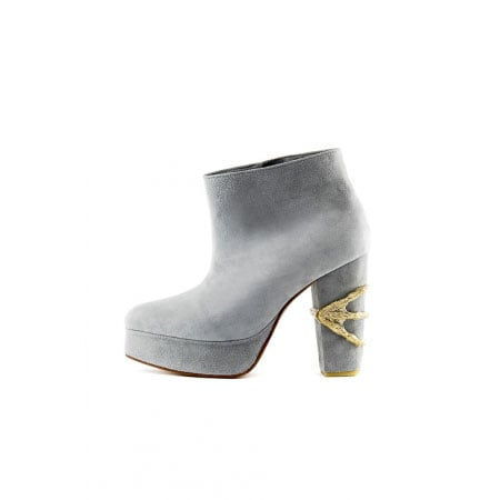 Claw Ankle Boot in Dusty Blue