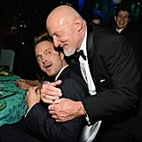 Aaron Paul and Jonathan Banks attended the 2013 Emmys Governors Ball.