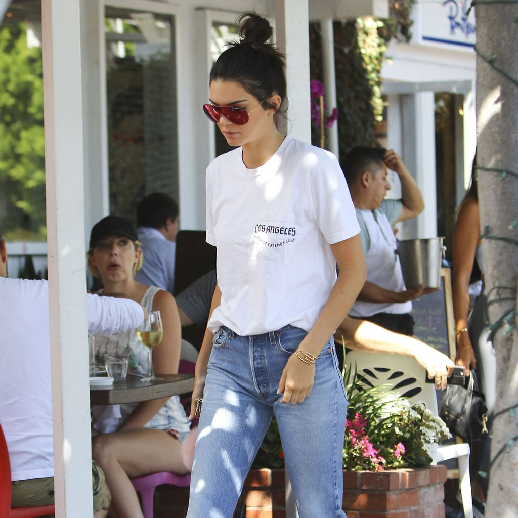 Kendall Jenner Wears Colored Sunglasses