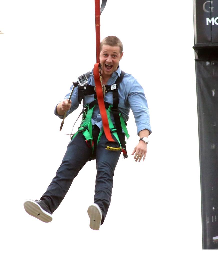 Ben McKenzie went ziplining on Saturday.