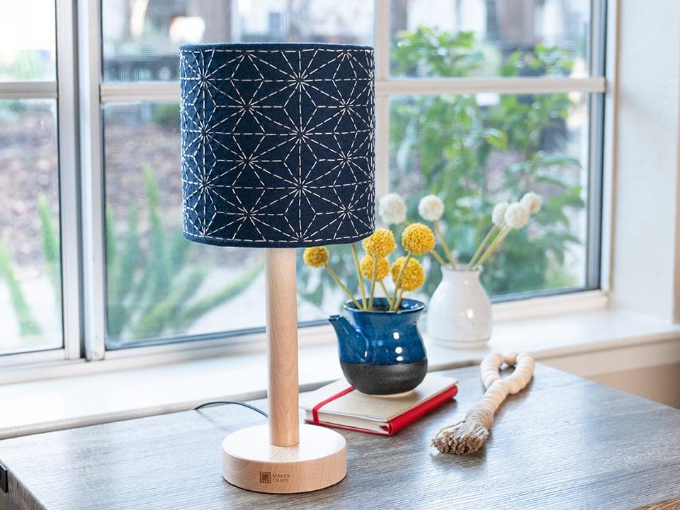KiwiCo Hand-Embroidered Lamp