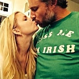 Jessica Simpson shared a sweet kiss with her Irishman fiancé, Erin Johnson, on St. Patrick's Day. Source: Instagram user jessicasimpson